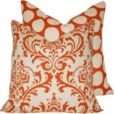 Interior Design HQ: Orange Throw Pillows
