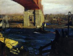 George Wesley Bellows - The Bridge, Blackwell's Island ,1909