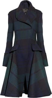 Alexander McQueen Black Watch plaid coat I love this style but not sure it would look as good on me as it would my sister!