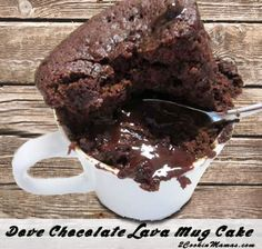 Chocolate Lava Mug Cakes Recipe Desserts with all-purpose flour, sugar… Dove Chocolate, Chocolate Mug Cakes, Chocolate Recipes, Dessert Chocolate, Lindt Chocolate, Chocolate Smoothies, Chocolate Shakeology, Chocolate Drizzle, Chocolate Roulade