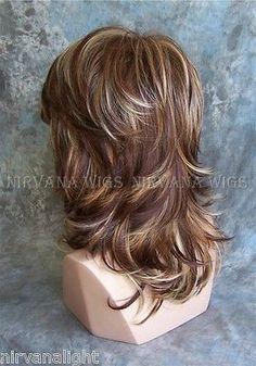 3tone profunda auburn/copper/blonde Multi Capas med/long Nirvana Sarah Peluca