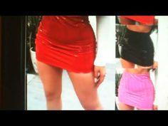 Women PU Leather Skirts Red Pink Orange High Waist Slim Pencil Skirts Vi... Slim Waist, High Waist, Pencil Skirts, Mini Skirts, Leather Skirts, Vintage Skirt, Red And Pink, Pu Leather, Orange