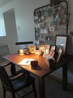 The desk where I wrote my son the many letters I sent every day to him while he was in Marine boot camp in Parris Island, SC.