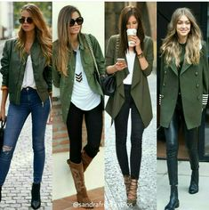 Camo green - All About Mode Outfits, Chic Outfits, Spring Outfits, Winter Outfits, Fashion Outfits, Look Fashion, Girl Fashion, Winter Fashion, Womens Fashion