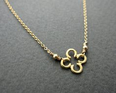 CLOVER gold clover necklace simple modern everyday by VerseJewelry, $28.00