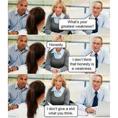 Fundstück: ´What´s your greatest weakness?´und wie man auf diese Frage im Job-Interview am besten reagiert…