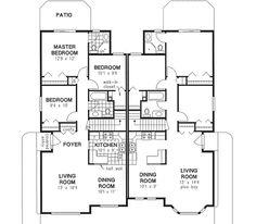 Plan 2369jd 4 car tandem garage home pinterest for Multi family condo plans