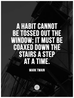 Habit. Not always bad but sometimes a symptom of some anxiety. Address that first. What does it represent? #selfhelp