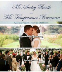 Happy 4th wedding anniversary Mr. and Mrs. Booth ❤