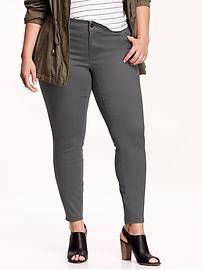 Women's Plus Brushed-Sateen Rockstar Skinny Jeans