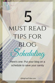 Blog Scheduling