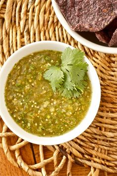 so i was cravin green salsa today so i bought tomatillos, peppers, cilantro, garlic... & i just stummbled across this recipe. so excited!