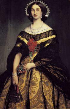 Carlotta of Mexico, portrait in Castillo de Chapultepec