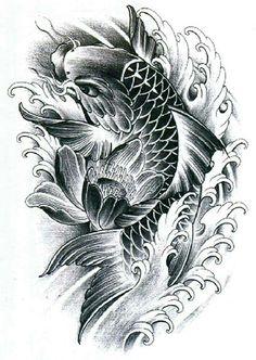 ❥●❥ ♥ ♥❥●❥ Pez Koi Tattoo, Koi Tattoo Sleeve, Carp Tattoo, Tatoo Carpe Koi, Shoulder Armor Tattoo, Koi Tattoo Design, Koi Fish Designs, Tattoo Samples, Dragon Fish