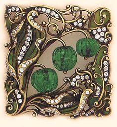 Beautiful art nouveau brooch Bijoux Art Nouveau, Art Nouveau Jewelry, Jewelry Art, Antique Jewelry, Vintage Jewelry, Jewelry Design, Jewellery, Gold Jewelry, Belle Epoque