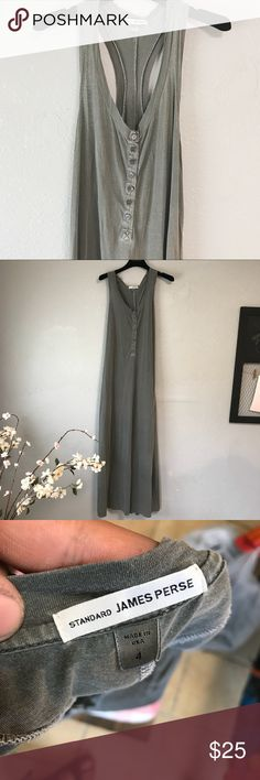 Standard James Pearse Grey Maxi Racer Back Dress Standard James Pearse Grey Maxi Racer Back Dress. Size 4 James Perse Dresses Maxi