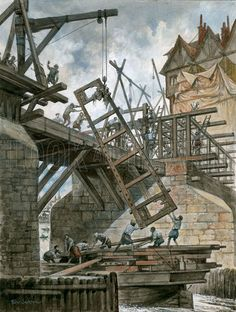 Peter Jackson - Nonesuch House Being Erected on Old London Bridge