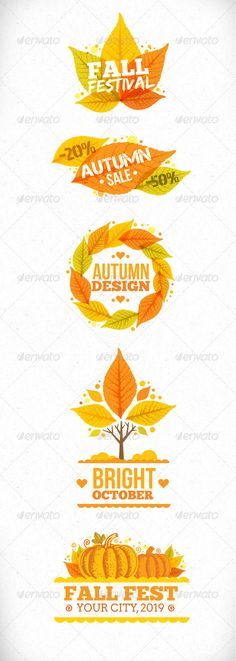 Autumn Festival Art Illustration Bright and original autumn vector shapes, that will highlight your event.