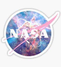 Pastel Nebula Nasa Logo Sticker