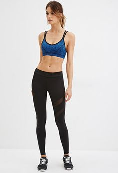 cool workout bottoms. 20$ Mesh-Paneled Athletic Leggings | Forever 21 - 2000179965