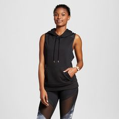 Women's Sleeveless Sweatshirt with Hoodie - Black - Anna Kaiser for C9 Champion® : Target