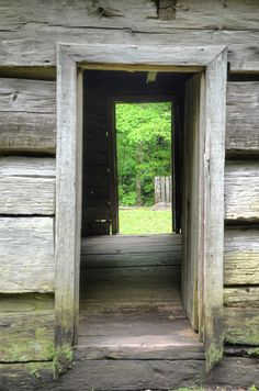 Log Cabin in the Great Smoky Mountains National Park, Roaring Fork Motor Nature Tour