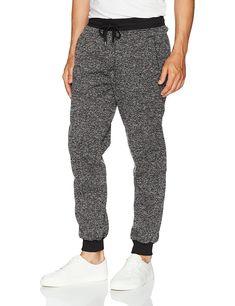 47d5b984a63e Men s Basic Fleece Marled Jogger Pant - Black(marled) - CT183MYGSLK