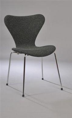 Lauritz.com - Møbler - Arne Jacobsen 1902-1971. Syver stol model 3107. - DK, Herlev, Dynamovej