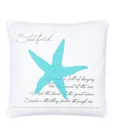 Look at this #zulilyfind! White Biscayne 'Starfish' Throw Pillow #zulilyfinds