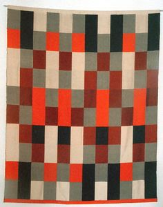 Gunta Stolzl  Wall hanging  in double-weave technique  1964  155x120 cm