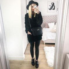 "Polubienia: 1,211, komentarze: 147 – @neecik na Instagramie: ""Black is my happy colour ♀️ #black #blacklove #ootd #ootdfashion #outfit #outfitoftheday…"""