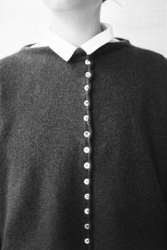 egg | agnes Couture Sewing, Cardigans, Sweaters, Monochrome, Chef Jackets, Knitwear, Fall Winter, Men Sweater, Eggs