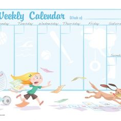Weekly Calendar for Kids