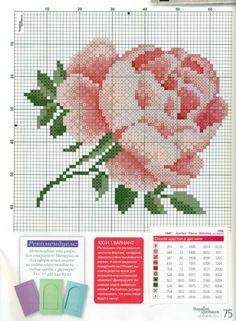 Gallery.ru / Фото #52 - ВК 2014-10(124) - mornela Cross Stitch Cards, Cross Stitch Rose, Cross Stitch Flowers, Cross Stitch Embroidery, Cross Stitch Patterns, Filet Crochet, Baby Blanket Crochet, Diy And Crafts, Crafty