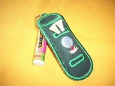 Golf tees Chapstick Holder and Keychain with golf by sewdeliteful, $4.00