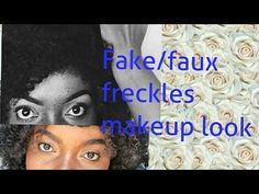 Fake/faux freckles makeup  look  (using KIKO products) - YouTube