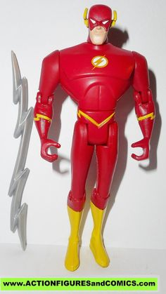 mattel toys action figures for sale to buy JUSTICE LEAGUE UNLIMITED dc universe animated JLU The FLASH (sculpt 2 with added articulation in elbows,knees, & waste) includes silver lightning bolt Condit