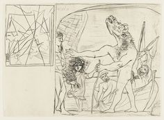 Pablo Picasso (Spanish, 1881–1973)  Blind Minotaur Guided by a Little Girl with…