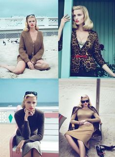 Vogue Mad Men tribute beach