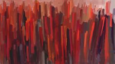 Joseph Cloude Today' s painting of abstract skyscrapers.