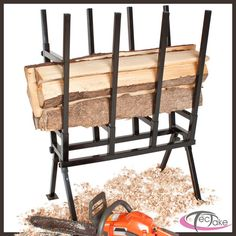 Saw Horse Wood Log Holder Metal For Chainsaw Cutting