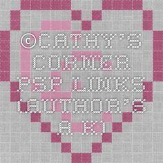 ©Cathy's Corner - PSP Links (Author's A-K)
