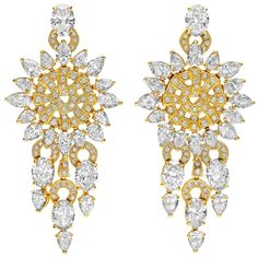 One-of-a-kind earrings from the high jewelry collection18kt gold with yellow diamonds