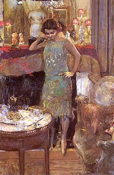 by---- Jean-Édouard Vuillard (French: [vɥijaʁ]; 11 November 1868 – 21 June 1940). He  was a French painter and printmaker associated with the Nabis.