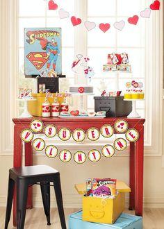 Superhero Valentine's Day Party Full of Really Cute Ideas via Kara's Party Ideas | KarasPartyIdeas.com #SuperheroParty #ValentinesDayParty #...