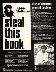 Steal This Book by Abbie Hoffman | 33 Must-Read Books To Celebrate Banned Books Week