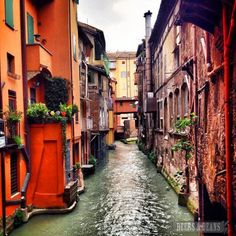 "One of Bologna's medieval canals - ""36 Hours in Emilia Romagna"" by @Bethany Shoda Salvon (BeersandBeans)"