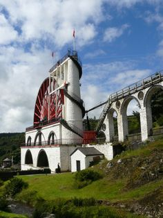 Laxey Wheel Isle of Man Trizzy: using the power of water to pump water out of the mines. Using the problem to solve the problem