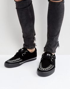 T.U.K Suede Creeper Shoes - Black