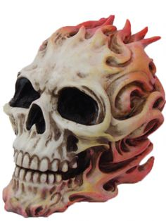 """""""Flaming"""" Skull by Pacific Trading #inkedshop #flaming #skull #onfire #homedecor"""